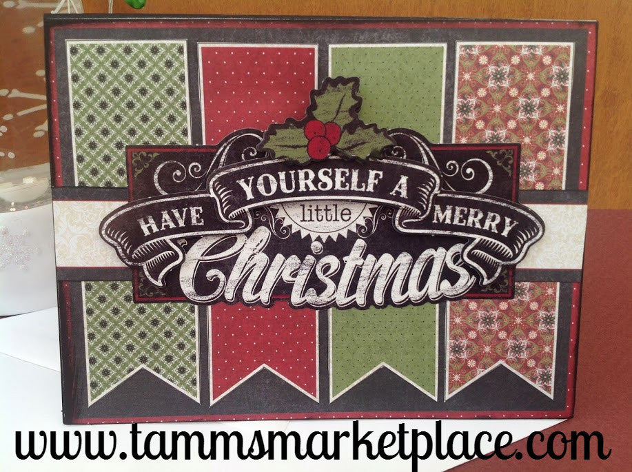 Have Yourself A Merry Little Christmas Handmade Card MKC052