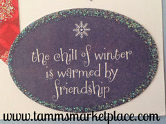 The Chill Of Winter Snowman Friendship Card MKC054