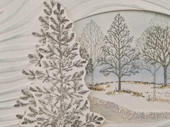 Winter Scene Stamped and Embossed Handmade Card MKC058