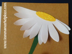 Daisy Greeting Card with Jute Twine MKC070