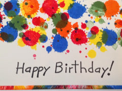 Happy Birthday Colorful Splash Card MKC071