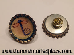Bottle Top Dragonfly Pin MKP024