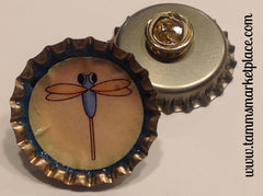 Set of 3 Bottle Top Dragonfly Pins MKP027