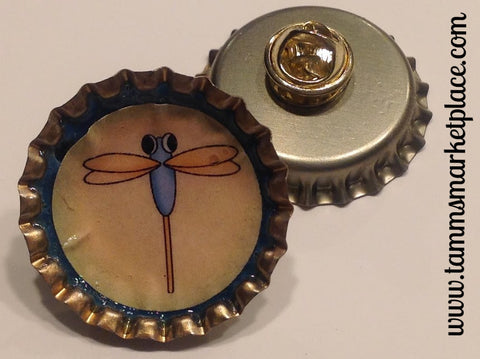 Bottle Top Dragonfly Pin MKP025