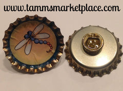 Bottle Top Dragonfly Pin MKP026