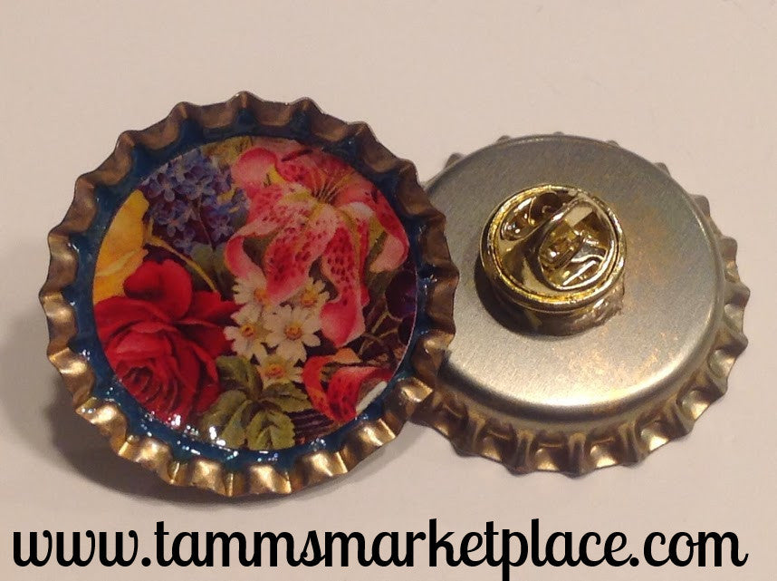 Bottle Top Flower Pin MKP030