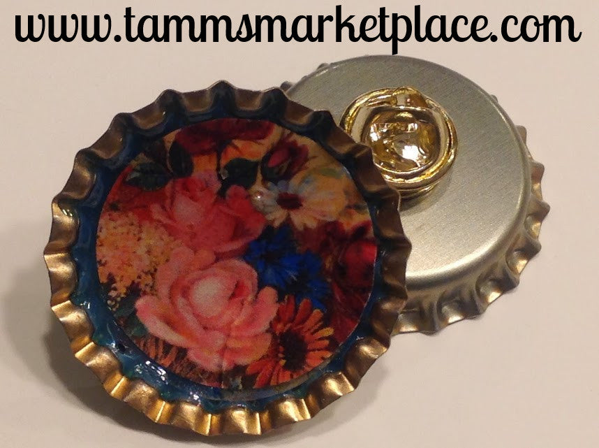 Bottle Top Flower Pin MKP031