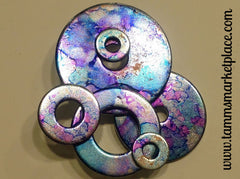 Painted Metal Washer Collage Pin MKP033