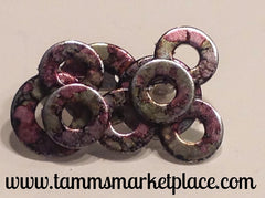 Painted Metal Washer Collage Pin MKP034