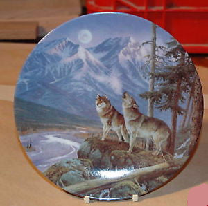 Moonlight Lookout Collector's Plate #2856A of Alaska: The Last Frontier Bradford Exchange CP022