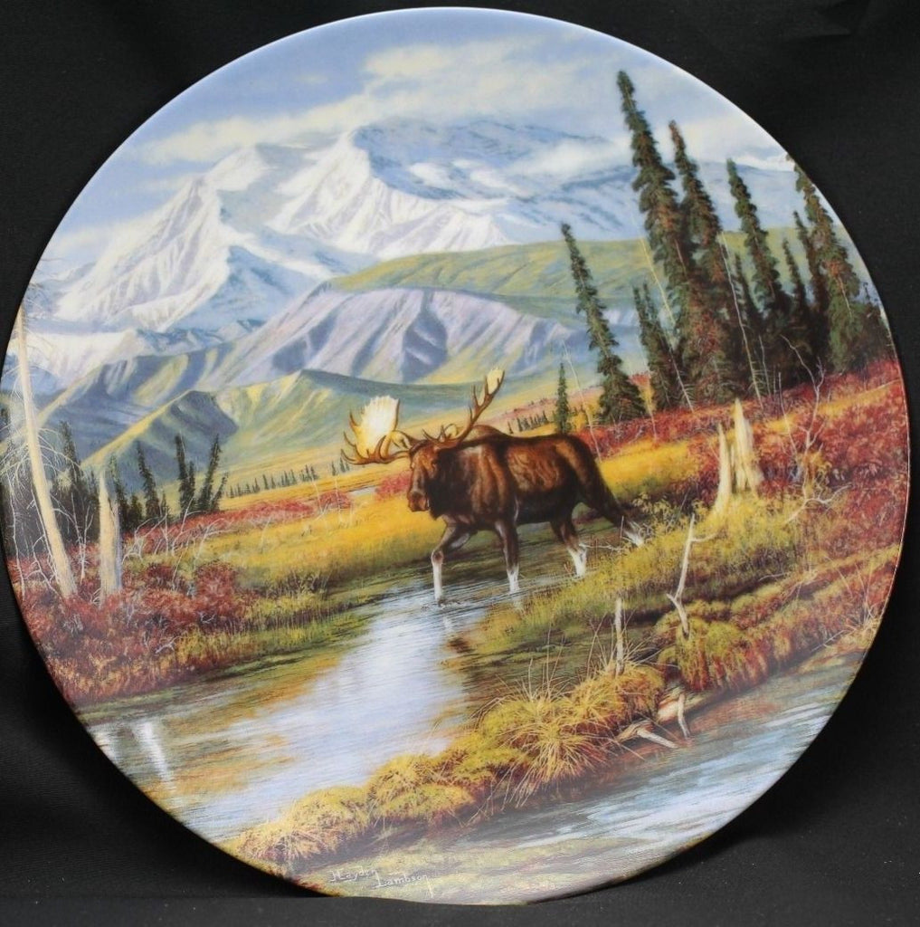 Mountain Monarch Collector's Plate #10474A of Alaska: The Last Frontier Bradford Exchange CP020