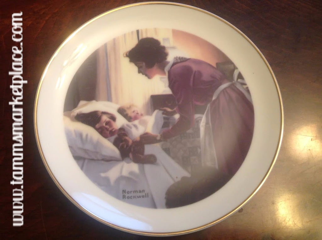 "Norman Rockwell Collector's Plate ""Mother's Love""  6.25"" diameter ECO001"