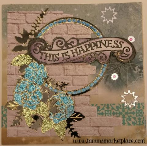 """This is Happiness"" Handmade Card QC0002"