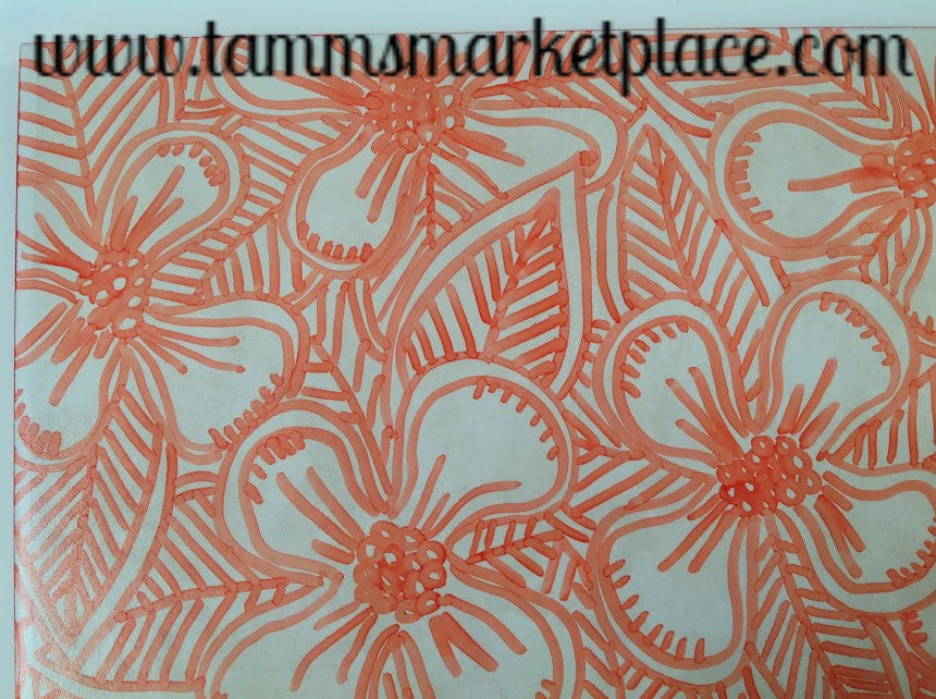 Ceramic Tile Art Orange Hibiscus Flowers Qct017 Tamms Marketplace