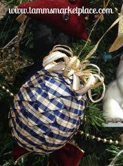 Pine Cone Ribbon Ornament QOR002