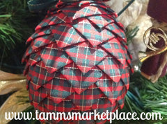 Pine Cone Ribbon Ornament QOR003