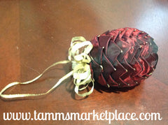 Pine Cone Ribbon Ornament QOR004