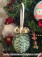Pine Cone Ribbon Ornament QOR008