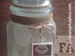 Decorated Jar in Pastels and Paris QJA003