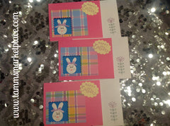 Easter Cards Set of 5 (3 Pink, 2 Blue) JAC011