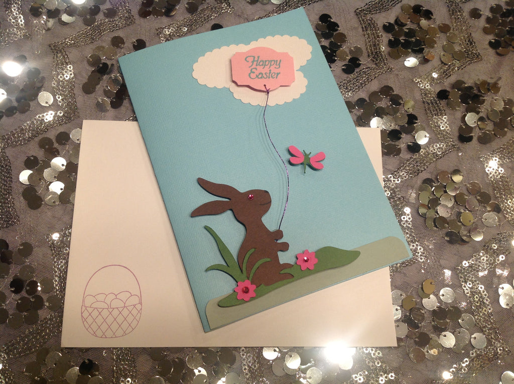 Happy Easter Pink Card JCA009