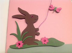 Happy Easter Pink Card JCA008
