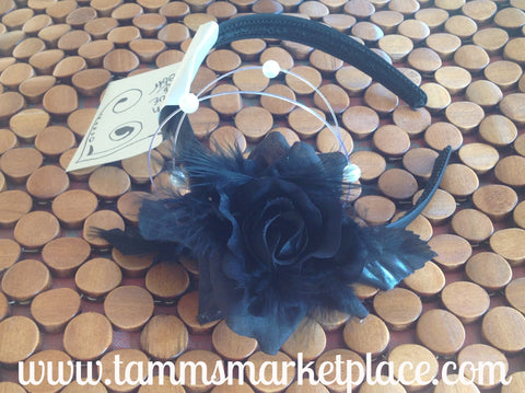 Black Rose Headband CFL002