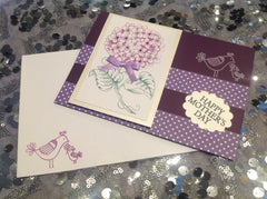 Happy Mothers Day Hydrangea Flower Card JCA001