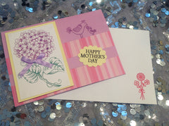 Happy Mothers Day Pointsettia Flower On Pink Card JCA002