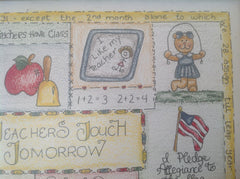 "Watercolor pencil ""Teachers Touch Tomorrow"" 8x10 drawing QTT001"
