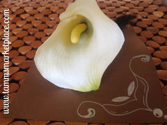 Large Calla Lilly with Feathers CFL001