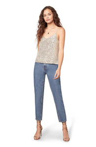 Hide & Sequin Top