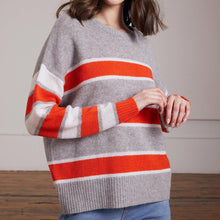 Load image into Gallery viewer, Stripe Block Crew Pullover