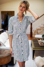 Load image into Gallery viewer, Black & White Shirtdress