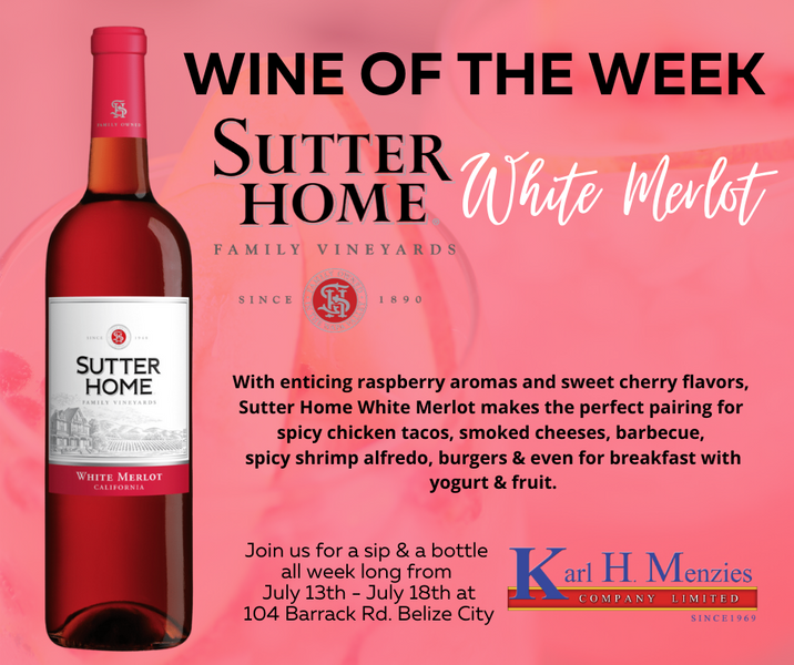 Wine of the Week: Sutter Home White Merlot