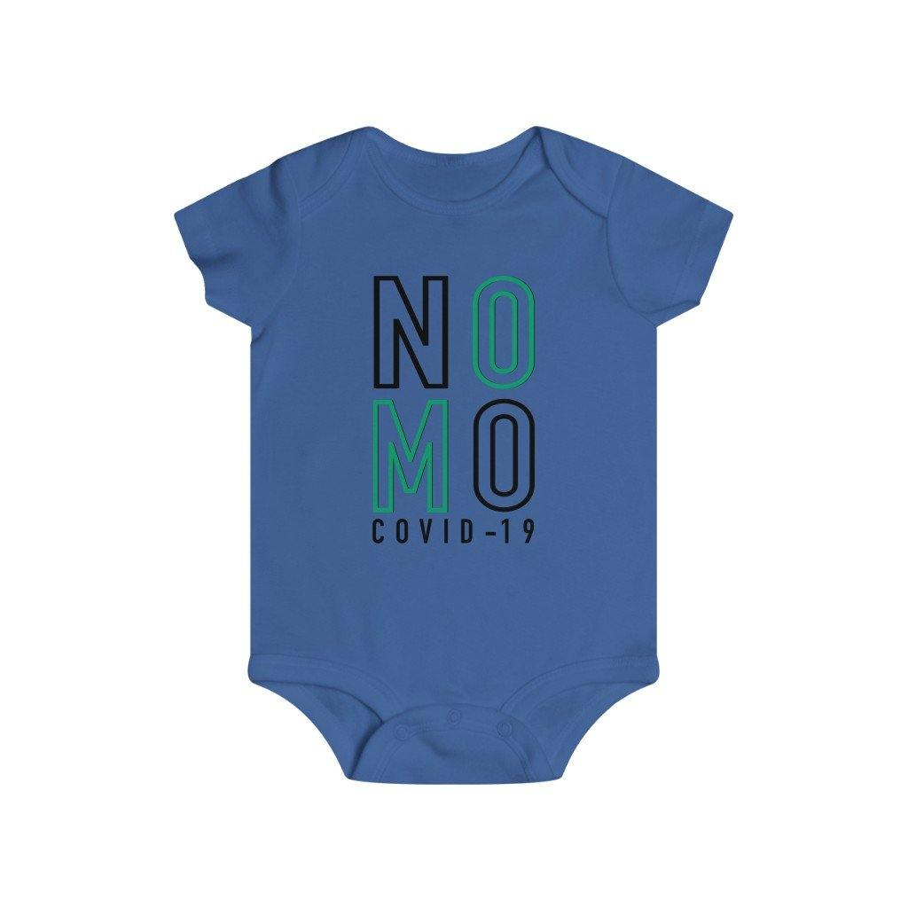 "Black & Green ""NO MO"" On White 