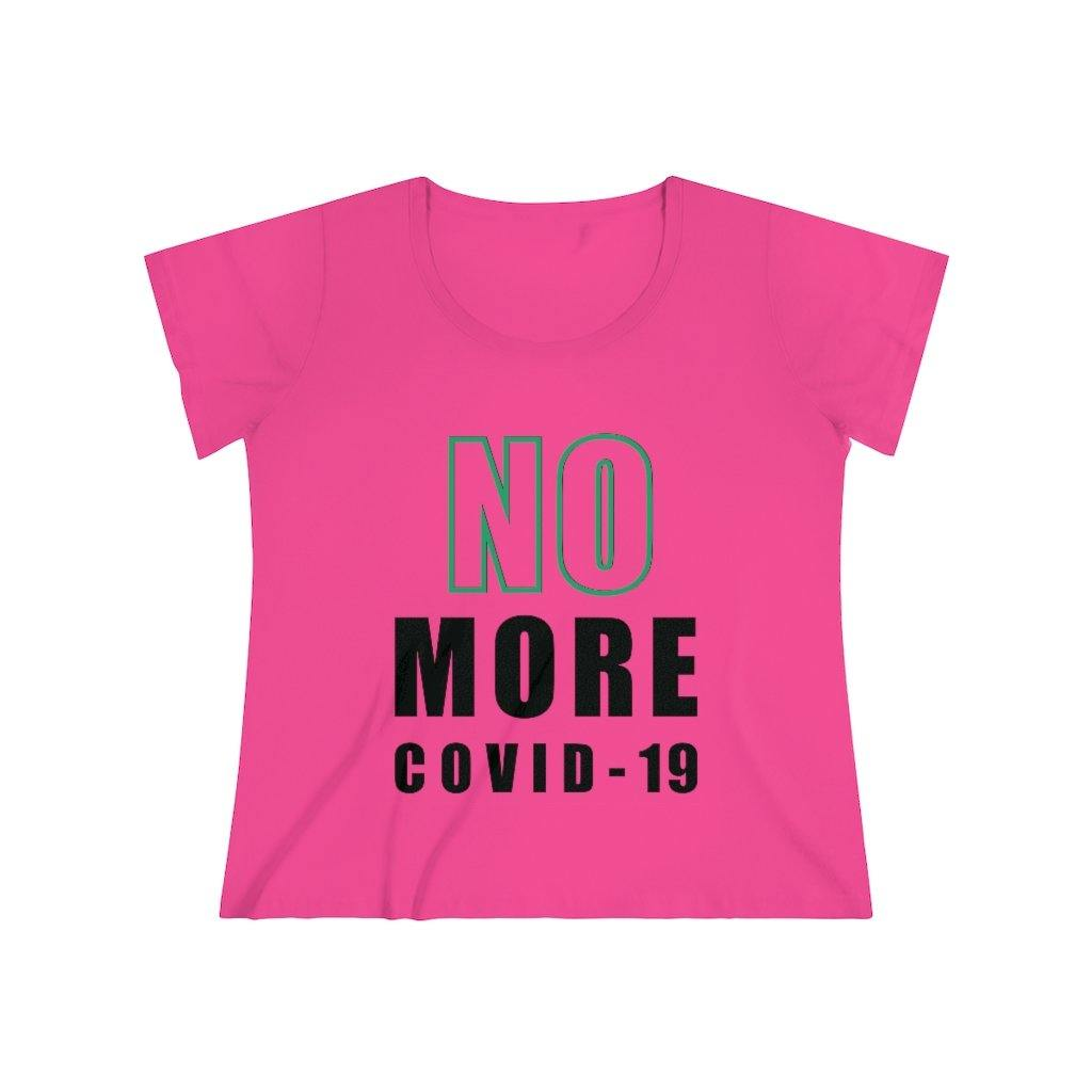 "Green ""NO MORE COVID'' On White 