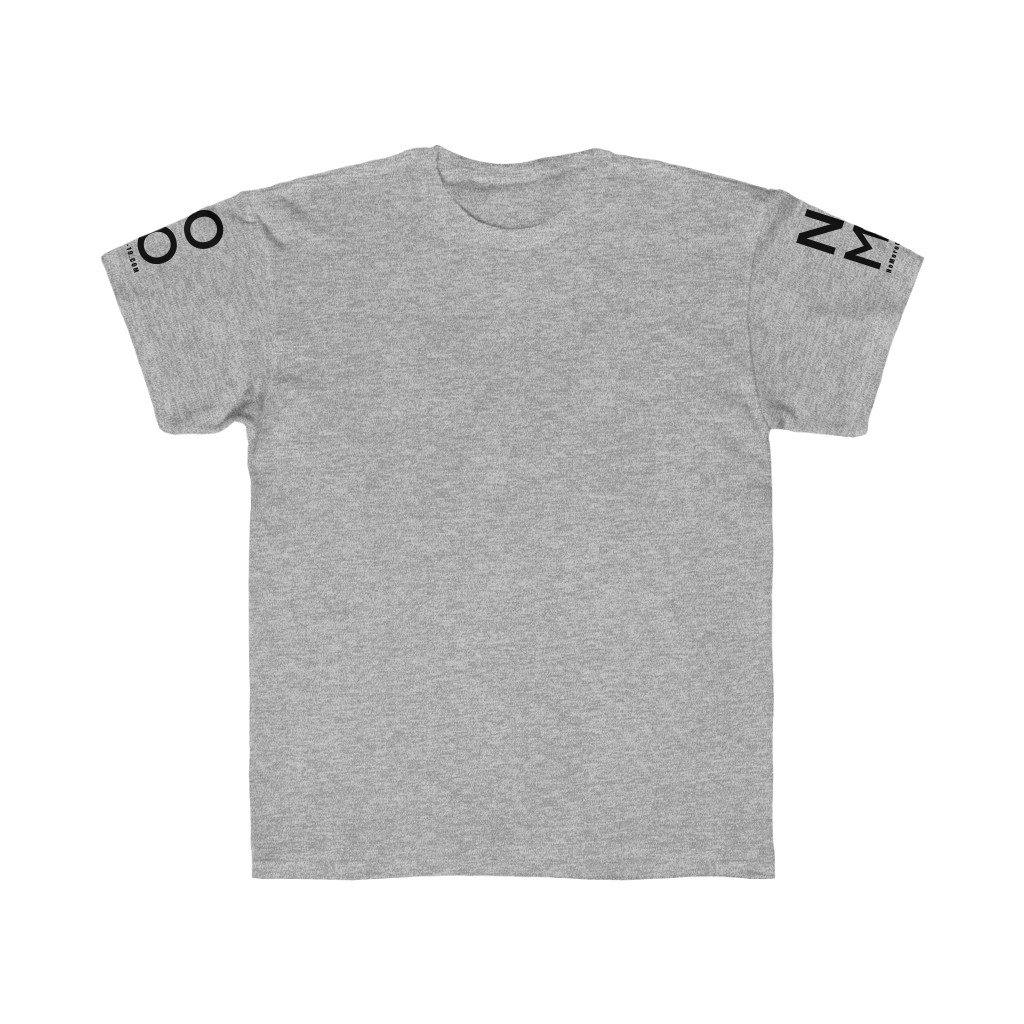 "Grey ""NO MO"" Minimalist Logo Short Sleeves 