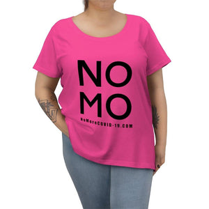 "Open image in slideshow, Black ""NO MO COVID"" On Hot Pink 