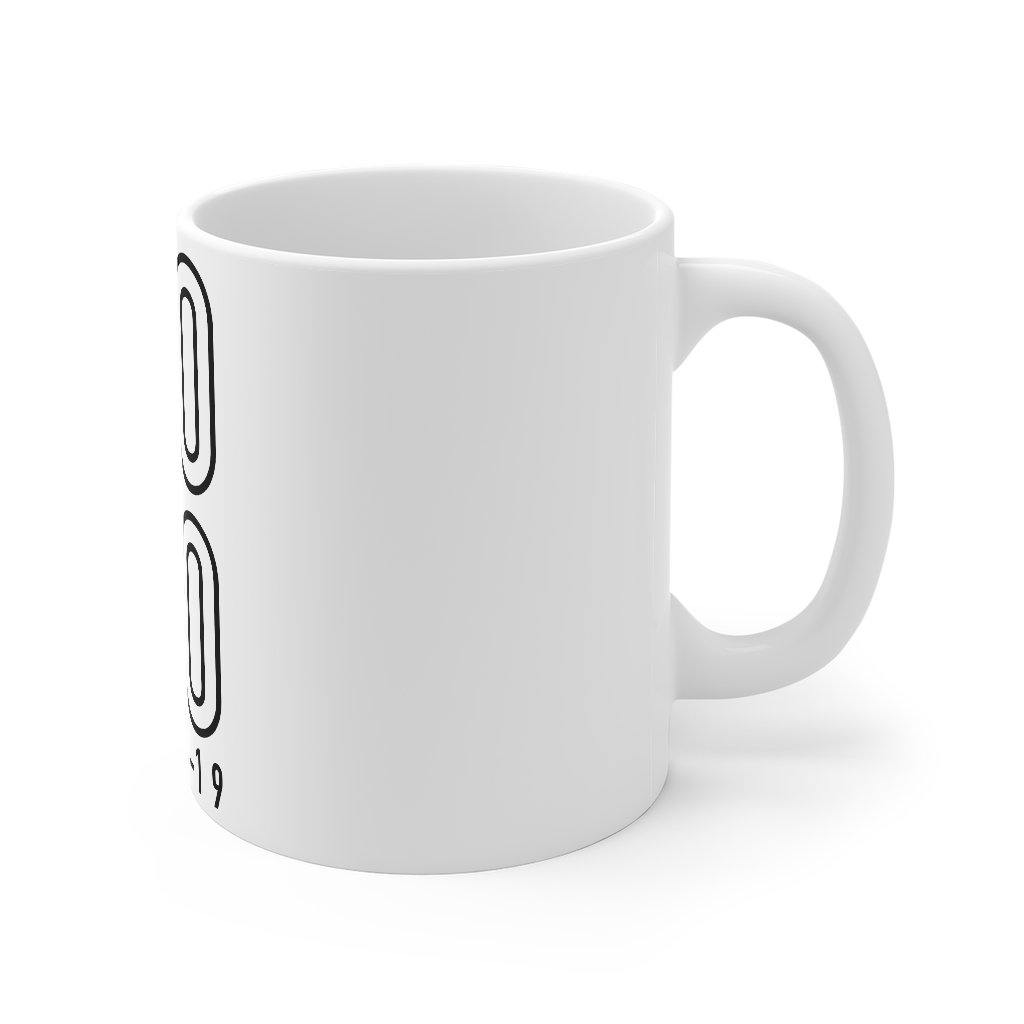 "Black & White ""NO MO COVID"" 