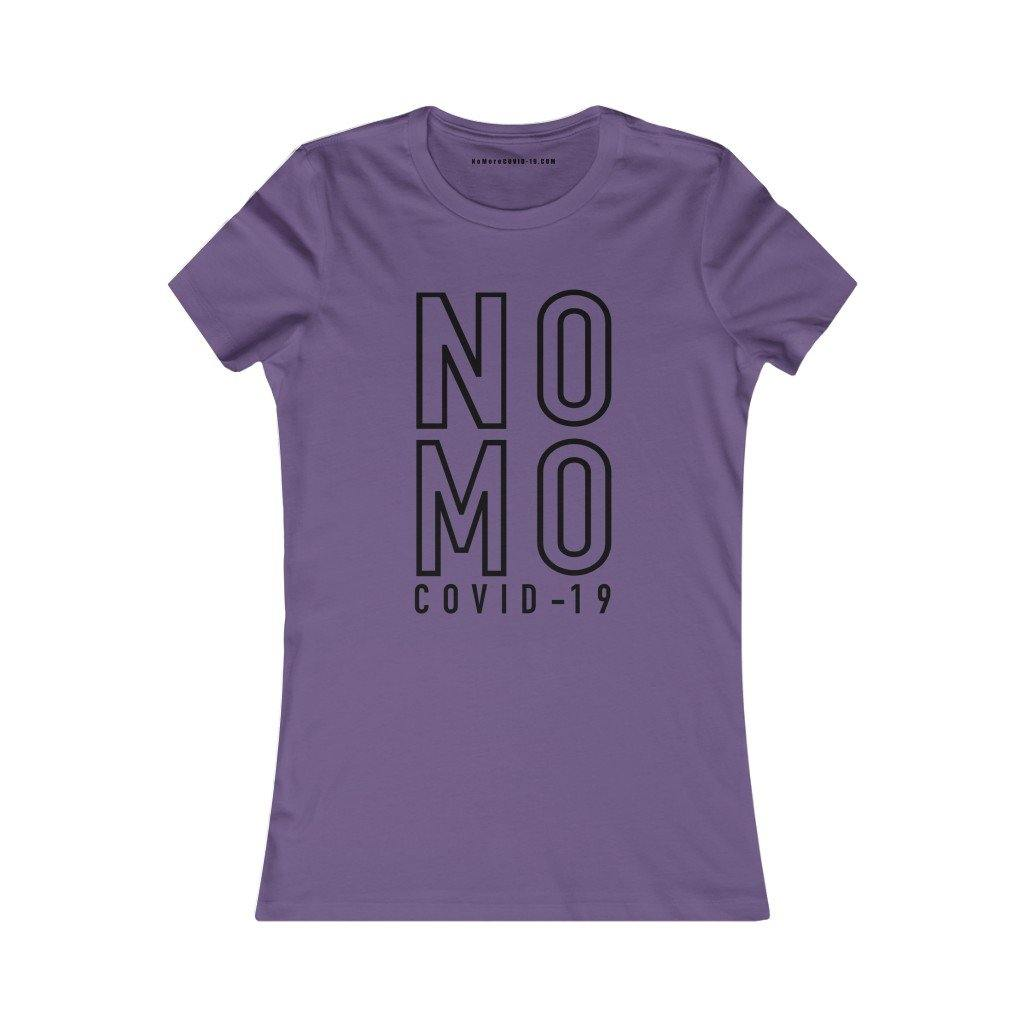 "Black ""NO MO COVID"" On Blue 