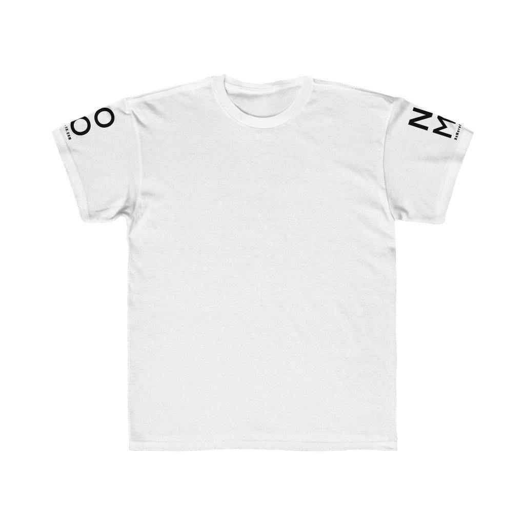 "Collec. | White ""NO MO"" Minimalist Logo Short Sleeve 