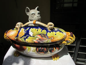 Ceramic hand made tureen