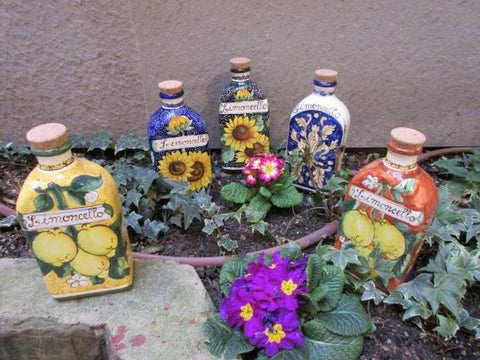 ceramic bottle for limoncello