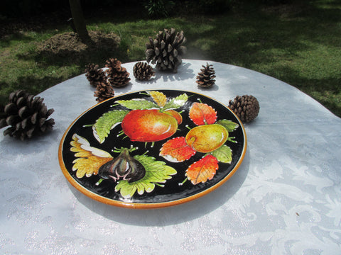 Tuscan dish/plate hand made and handpainted in a very modern design
