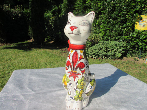 ceramic cat decor
