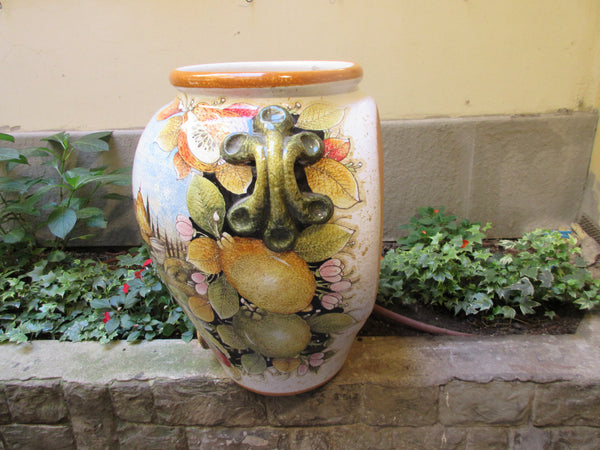 Tuscan umbrella stand in a traditional half urn shape and design