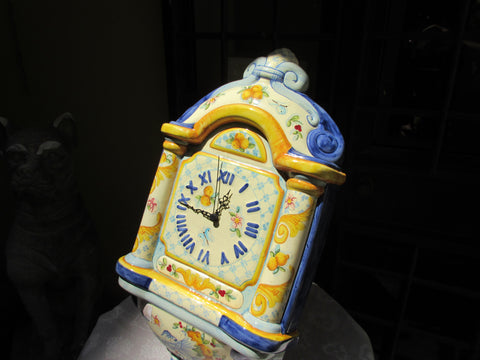 Tuscan hand made wall clock in very traditional florentine design