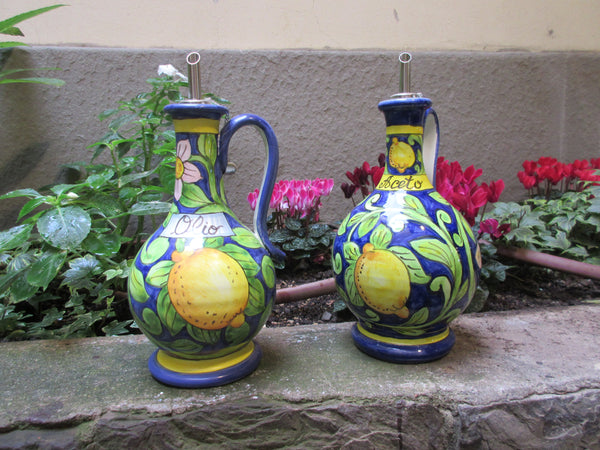 ceramic oil and vinegar bottles