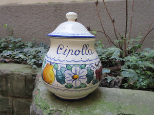 Ceramic container jar